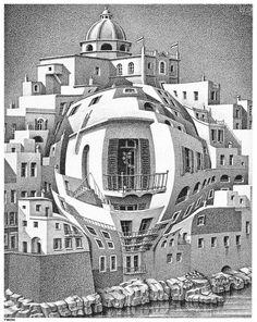 M.C. Escher - Balcony http://www.classicartpaintings.com/Painters-M/M.C.+Escher_1898-1972_/escher2-002_twon_Balcony.jpg.html