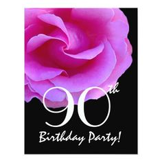 Shop Birthday Template Pink Rose For Her created by JaclinArt. 90th Birthday Invitations, 90th Birthday Parties, Birthday Template, Cool Themes, White Envelopes, Templates, Rose, Pink, Cards