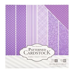 """Core'dinations 12"""" x 12"""" Patterned Cardstock 60 Pack - Purple"""