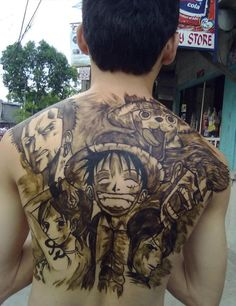 Awesome manga style tattoo. #tattoos #tattooed #ink