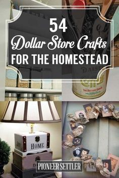 54 Dollar Store Crafts For Homesteading Ideas | Cool and Easy DIY Projects For The Home and More by Pioneer Settler at pioneersettler.co...