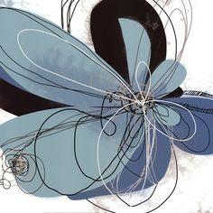 Azul Poetry 2 Fine-Art Print by Jan Weiss at UrbanLoftArt.com