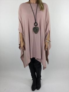 Lagenlook Poncho Shawl in Pink. code 3925