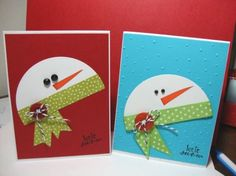 Santa Christmas Card Designs, Unique Handmade Christmas cards