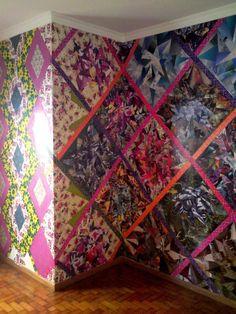 vintage paper wall by Luiz Parisi