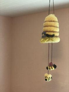 Excited to share the latest addition to my #etsy shop: #Organic #Pure #Wool #Bumble #Bee #Mobile #Baby #Nursery #Home #Decor #Wensleydale #Sheep #Curls Bumble Bee #Felted Mobile Girls Room #Beehive #Honey #Bee #art #fiberart #feltbeehive #beehive #girlsroom #babynursery #nursery #mobile #honey