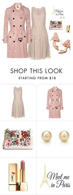 """""""Meet"""" by humblechick1 ❤ liked on Polyvore featuring Burberry, Rupert Sanderson, Dolce&Gabbana, Yves Saint Laurent, Brewster Home Fashions, women's clothing, women's fashion, women, female and woman"""