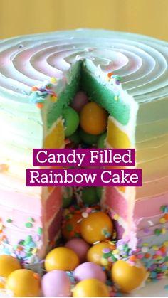 Fun Baking Recipes, Sweet Recipes, Dessert Recipes, Cooking Recipes, Cute Desserts, Delicious Desserts, Yummy Food, Rainbow Food, Rainbow Desserts