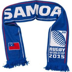 Samoa - Rugby WC 2015 Scarf Ideal Gift for all Rugby Fans Scarf Dimensions x approx Brand New with Tags - Header Card Official Licensed Irb Rugby, Rugby World Cup, Header, Fans, Brand New, Gift, Shopping, Fashion, Moda