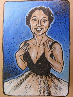 Original Art ACEO Glamour Girls 4 Josephine by silentmagician, $20.00