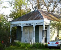"""Typical """"middle class"""" 19th century home in New Iberia, Louisiana."""