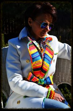 Ecru płaszcz klasyczny
