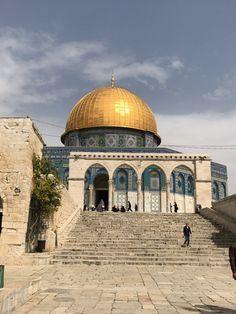A Cúpula da Rocha, em Jerusalém Naher Osten, Dome Of The Rock, Jerusalem Israel, Holy Land, Palestine, Image Photography, Taj Mahal, Beautiful Places, Bible
