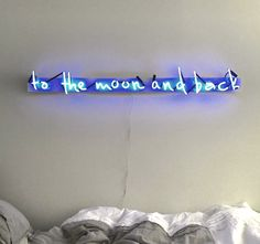 To The Moon And Back Plexiglass-Mounted Neon Sign (1450.00 USD) by MarcusConradPoston