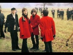 ♫ The Beatles during filming for the video for Penny Lane, 1967