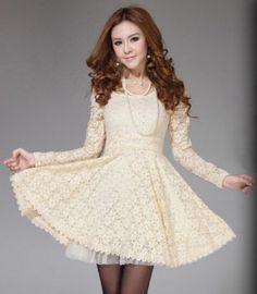 Vestidos beige 5