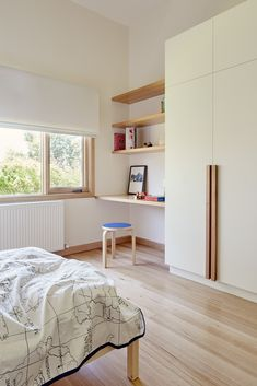 Thornbury House by Olaver Architecture - Light-filled Modern Extension Bedroom Cupboard Designs, Bedroom Closet Design, Bedroom Cupboards, Bedroom Furniture, Bedroom Decor, Kids Bedroom, Office Interiors, Home Renovation, New Homes