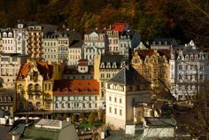 The Castle Tower is located in the historical centre of Karlovy Vary above the Castle Colonnade. The original building, a Gothic castle, originated. Gothic Castle, Places To Visit, Tower, Mansions, House Styles, City, Building, Travel, Raspberry