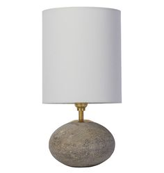 Rejuvenation Easy Update: Concrete Orb Accent Lamp #interiordesign #home #homedecor #decor #design #lighting #brass