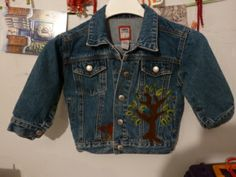 Needle Felted Toddler Jean Jacket Front