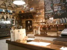 Aroma cafe Lyme Regis - for the gorgeous reclaimed wood x