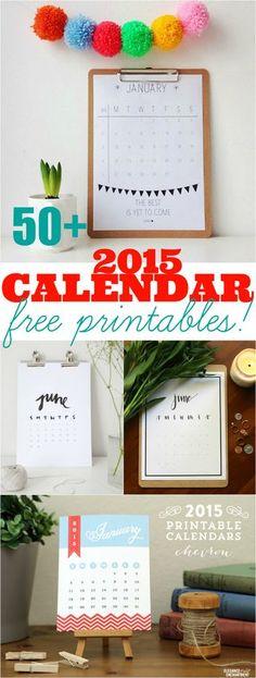 50+ 2015 free printable calendars | Ultimate Roundup! | Lolly Jane | Bloglovin'