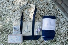 Cape Cod Wedding from Trent Bailey Photography + Desiree Spinner Events Navy Blue Bridesmaids, Cape Cod Wedding, Beach Wedding Favors, Friend Wedding, Wedding Details, Wedding Ideas, Gift Bags, Style Me, Nautical