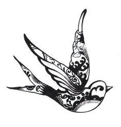 Sparrow....henna style