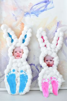 Easter Crafts for Kids: Cotton Ball Bunnies! - Making Things is Awesome - Easter Crafts for Kids: Cotton Ball Bunnies! – bunny craft Easter Crafts for Kids: Cotton Ball Bu - Easter Crafts For Toddlers, Easter Arts And Crafts, Easter Projects, Easter Activities, Toddler Crafts, Spring Crafts, Holiday Crafts, Rabbit Crafts, Bunny Crafts