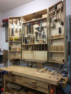 This is a tool cabinet designed by Zen Zoltowski. I have installed the door locking system and two protecting acrylic shields as well.