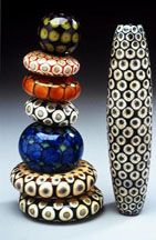 Lampworked Glass Beads by Kristina Logan