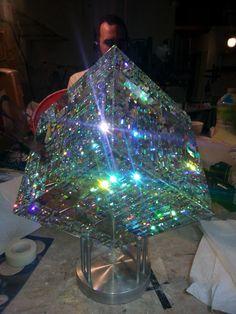 How To Make Sea Glass art - - - Tiffany Glass art Ideas - Broken Glass art On Wood - Broken Glass Art, Shattered Glass, Sea Glass Art, Stained Glass Church, Stained Glass Art, Fused Glass, Blown Glass, Jack Storms Glass, Glass Paperweights