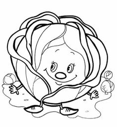 Vegetable Coloring Pages, Fruit Coloring Pages, Coloring Pages For Girls, Animal Coloring Pages, Coloring Pages To Print, Coloring Book Pages, Coloring For Kids, Printable Coloring Pages, Free Coloring
