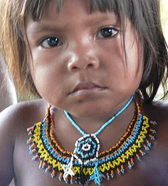 """Awá girl- """"The Awá or Guajá are an endangered indigenous group of people living in the eastern Amazon forests of Brazil. Approximately 350 members survive, and 100 of those have no contact with the outside world. Their language is in the Tupi–Guaraní family."""" FMI go to: http://en.wikipedia.org/wiki/Aw%C3%A1-Guaj%C3%A1_people"""