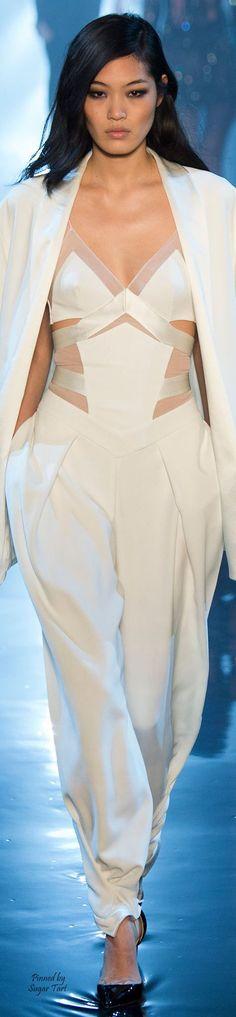Alexandre Vauthier Spring 2015 Haute Couture:white jumpsuit @roressclothes closet ideas #women fashion outfit #clothing style apparel