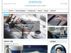 You can choiceAcmeBlog template to build a blog website.Designed for bloging topic it also suitable withNews and Magazine site.AcmeBlog features a fully responsive and mobile-ready layout which works great on...
