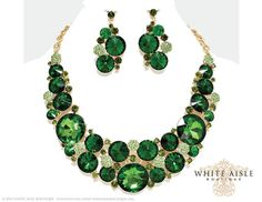 Hey, I found this really awesome Etsy listing at https://www.etsy.com/listing/234132027/emerald-green-bridal-jewelry-set-crystal