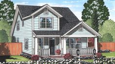 Floor Plan AFLFPW77666 - 2 Story Home Design with 4 BRs and 3 Baths