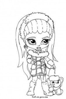 Abbey Bominable Little Girl Monster High Coloring Page Characters Fargelegge Tegninger Activities Worksheets Clipart Color Games
