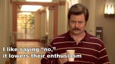 Ron Swanson - parks-and-recreation Fan Art Parks And Recreation, Parks And Rec Ron, Parcs And Rec, Ron Swanson Quotes, Favorite Quotes, Best Quotes, Funny Jokes, Hilarious, Comedy Tv