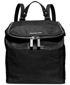 Michael Kors Medium Leather Backpack (Black)  http://www.alltravelbag.com/michael-kors-medium-leather-backpack-black/