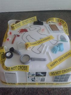 Forensic Science Cake by Carol Rhodes (Carol's Nicely Iced)