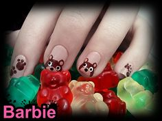 Gumi Bear Nails - Cute teddy bears nail design, The last time they were on my nails   I stared at my fingertips all day and thinking about how sweet they are.