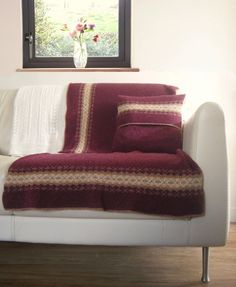 Fair Isle Blanket Berry £70.00