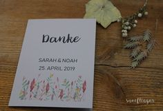 #dankeskarte #hochzeit #danke #einladungskarte #snoeflingor #biancamoschner Place Cards, Place Card Holders, Paper, Paper Mill, Wedding Thank You, Invitation Cards, Cordial, Invitations, Handarbeit