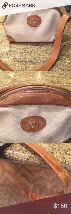 1a14fbcb9da4 Vintage gucci bag Vintage gucci bag, 001-65-5771 tan leather strap,