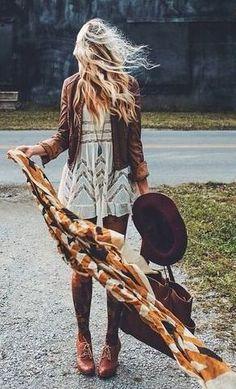 #fall #fashion #festival / boho