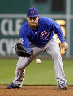 CrowdCam Hot Shot: Chicago Cubs first baseman Anthony Rizzo fields a ground ball against the Pittsburgh Pirates during the sixth inning at PNC Park. The Pittsburgh Pirates won 3-1. Photo by Charles LeClaire
