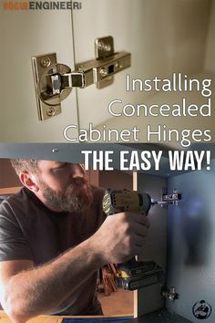 In several of my projects I have installed cabinet doors with concealed door hinges. Over time I think I have nailed down a pretty good system for installing these hinges on a frameless (European style) cabinet.