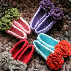 beautiful patterns:  slippers, cowls, hats